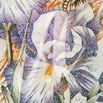 Tranh gốm mosaic hoa diên vĩ
