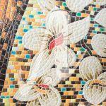 Tranh mosaic Hoa mai trắng