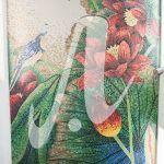 Tranh mosaic Hoa sen đỏ