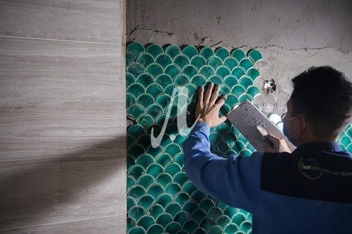 Cách thi công gạch mosaic