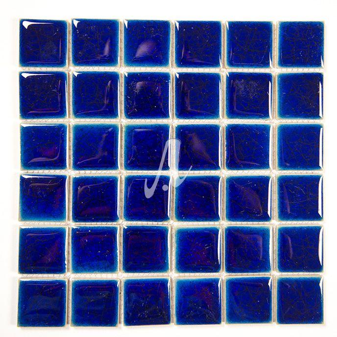 Gạch mosaic màu xanh đậm hải kích thước 5.5x5.5