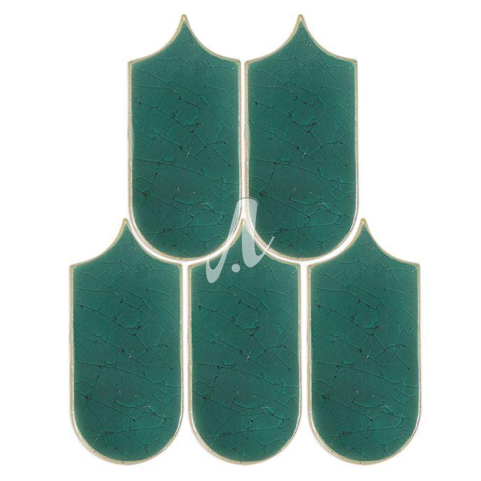 Gạch cánh quạt dài màu xanh lục bảo