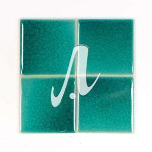 Gạch mosaic vuông xanh lục bảo 10x10
