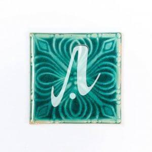 Gạch điểm 3D 10x10 hoa ngàn lớp xanh lục bảo